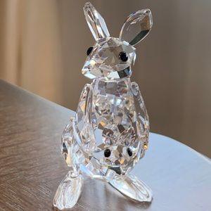Swarovski Figurine- Kangaroo mom and baby